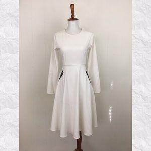 Zaikamoya Long Sleeve A-Line Dress